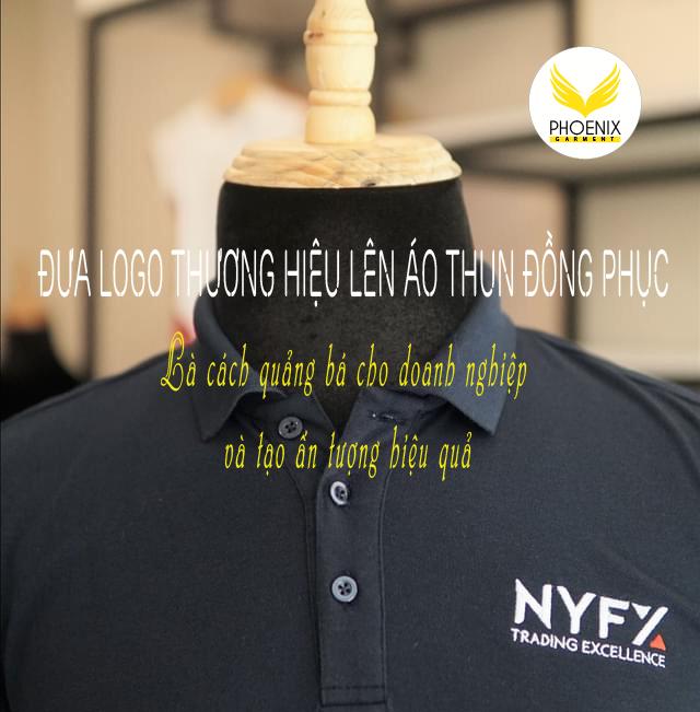 đưa logo thương hiệu lên áo thun đồng phục