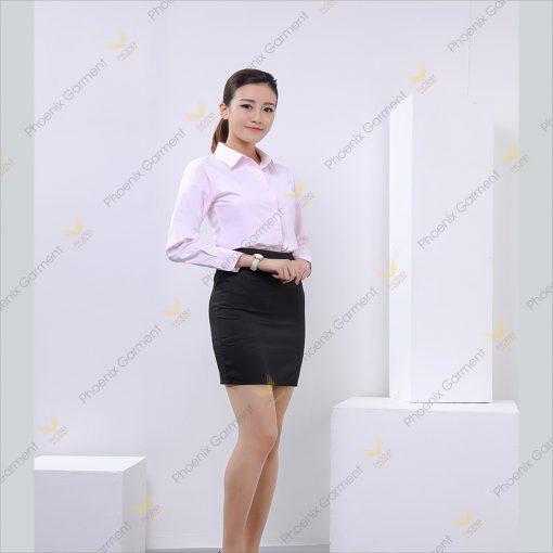áo đồng phục sơmi nữ - phoenix garment