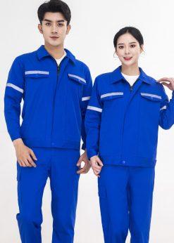 Bộ đồng phục bảo hộ lao động dài tay kéo khóa
